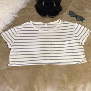 Tops - Gap Striped Cropped Top